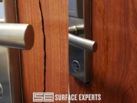 Wood door large crack repair - Tri-Cities, WA