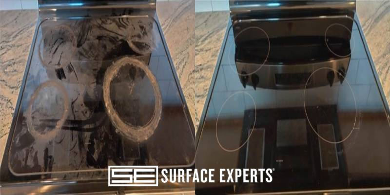 Glass Cooktop Worn and scratched Repair Overland Park KS